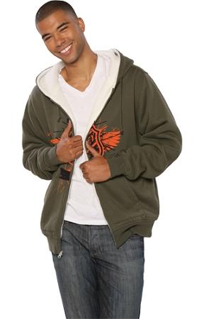 B-Sherpa Lined Zip Hood