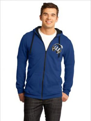 NEW District® - Young Mens Concert Fleece™ Full-Zip Hoodie