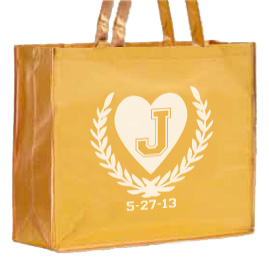 Large Laminated Metallic Shopping Bag