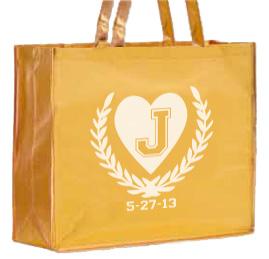 Large Laminated Metallic Shopping Bag