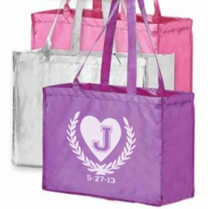 Medium Laminated Metallic Shopping Bag