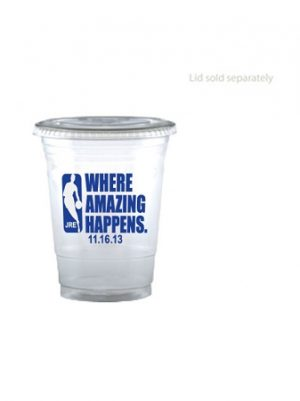 Custom 16oz Soft Sided Clear Cup