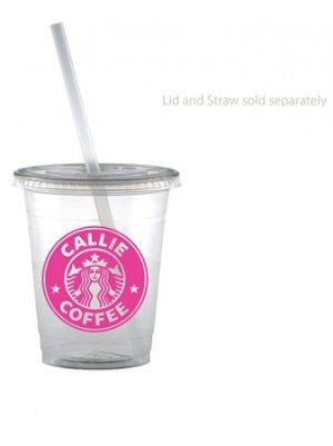 Custom 12oz Soft Sided Clear Cup