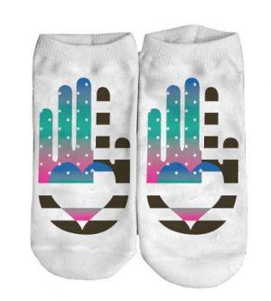 Sublimated No Show Socks