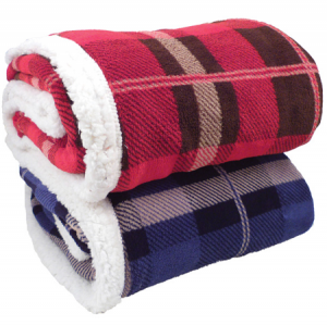 Lambswool Microsherpa Plaid Throw (NEW)
