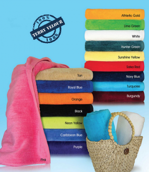 Terry Velour Silkscreen Beach Towels