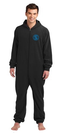 District Fleece Lounge Onesie (Black)