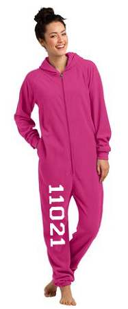 District Fleece Lounge Onesie (Dark Fuchsia)
