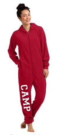 District Fleece Lounge Onesie (New Red)