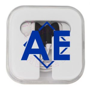 Ear Buds with Square Case