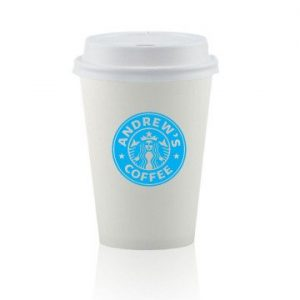 12 oz. White Paper Cup with Lid