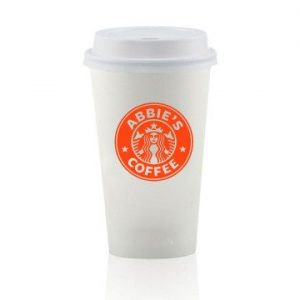 16 oz. White Paper Cup with Lid