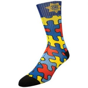 Adult Athletic Crew Sock - Full Color Exterior