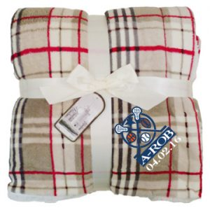 Lambswool Microsherpa Plaid Throw with Zipper