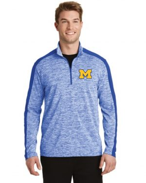 4.1oz  Electric Heather  Quarter Zip Pullover
