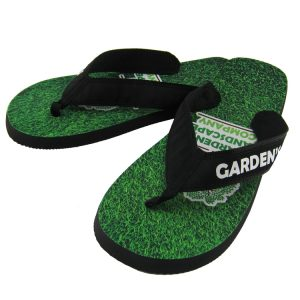 Premium Rubber Flip Flops with Fabric Straps