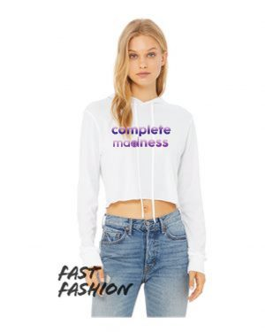Women's Triblend Cropped Long Sleeve Hooded Tee