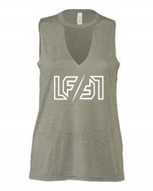 Women's Flowy Cut Neck Tank