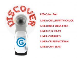 Programmable Lighted Message Fan