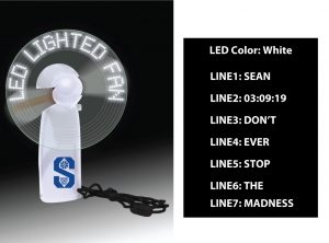 LED Lighted Message Fan