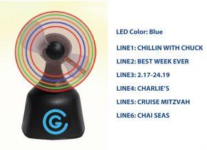 Desktop Lighted Fan